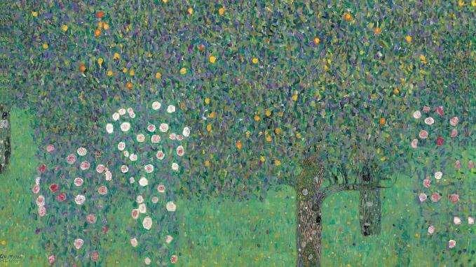 """""""Rosiers sous les arbres"""" du peintre autrichien sera rendu à la famille de Nora Stiasny (c) DR"""