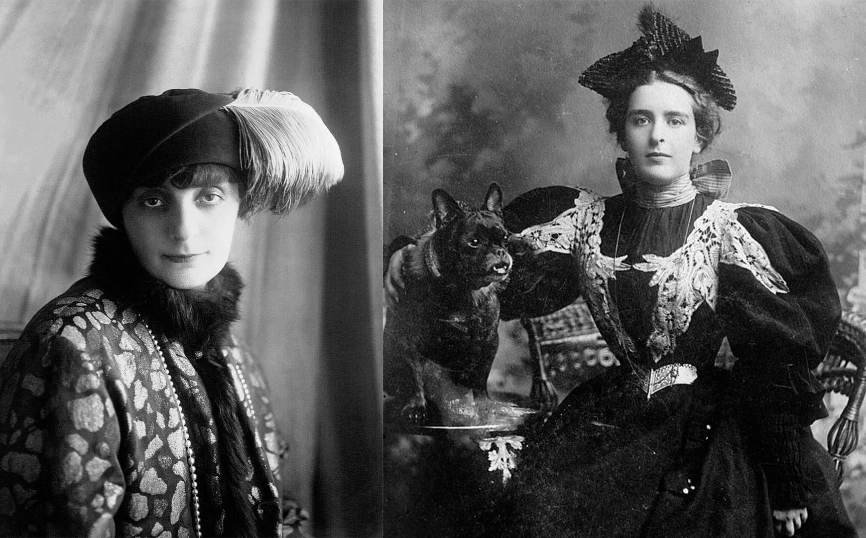 De gauche à droite : la Comtesse Anna de Noailles (1922 - Collection de la BNF) et Nathalie Clifford Barney (date et auteur inconnu)