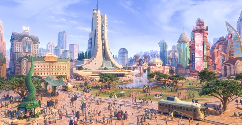L'histoire de Zootopie s'ancre dans un univers qui s'adapte à la diversité de ses habitants. Disney