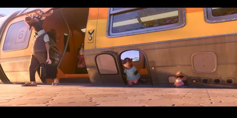 Les trois types de portes du train dans la ville de Zootopie. Disney