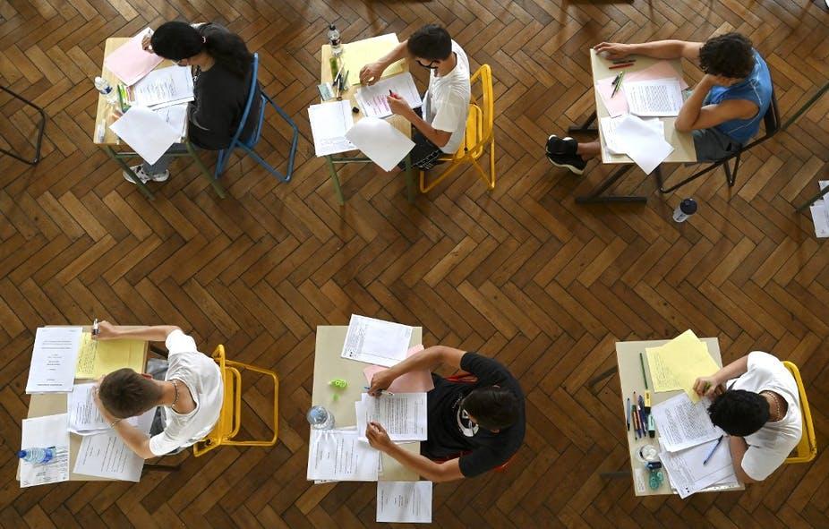 Session 2021 du bac au lycée Pasteur à Strasbourg. Frédérick Florin/AFP