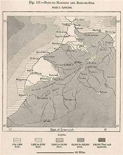 Bled-el-makhzen (Blanc) et de Bled Siba (ombré)