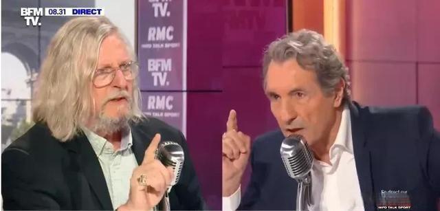 Raoult a eu une fois une grosse querelle avec l'animateur sur BFMTV et l'a même menacé de partir. ( Capture d'écran de la chaîne de télévision BFMTV)