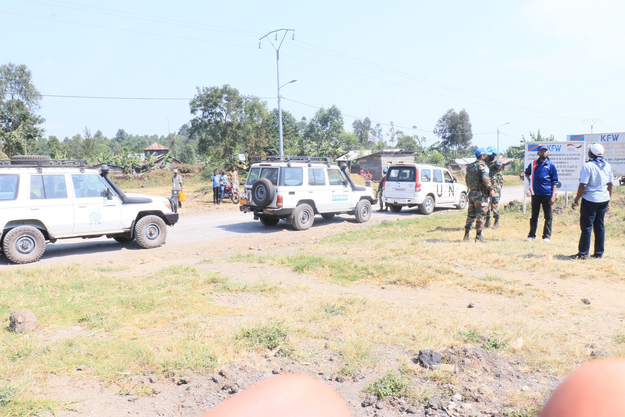Un convoi des humanitaires sous escortes de la Monusco pour faire face à l'activisme des groupes armés et ADF Nalu au Nord Kivu ©Blaise Sanyila