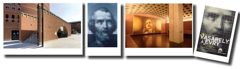 Le Musée Paul Delouvrier - Saint Pierre et le Christ de Victor et Yvaral Vasarely - L'affiche de l'exposition