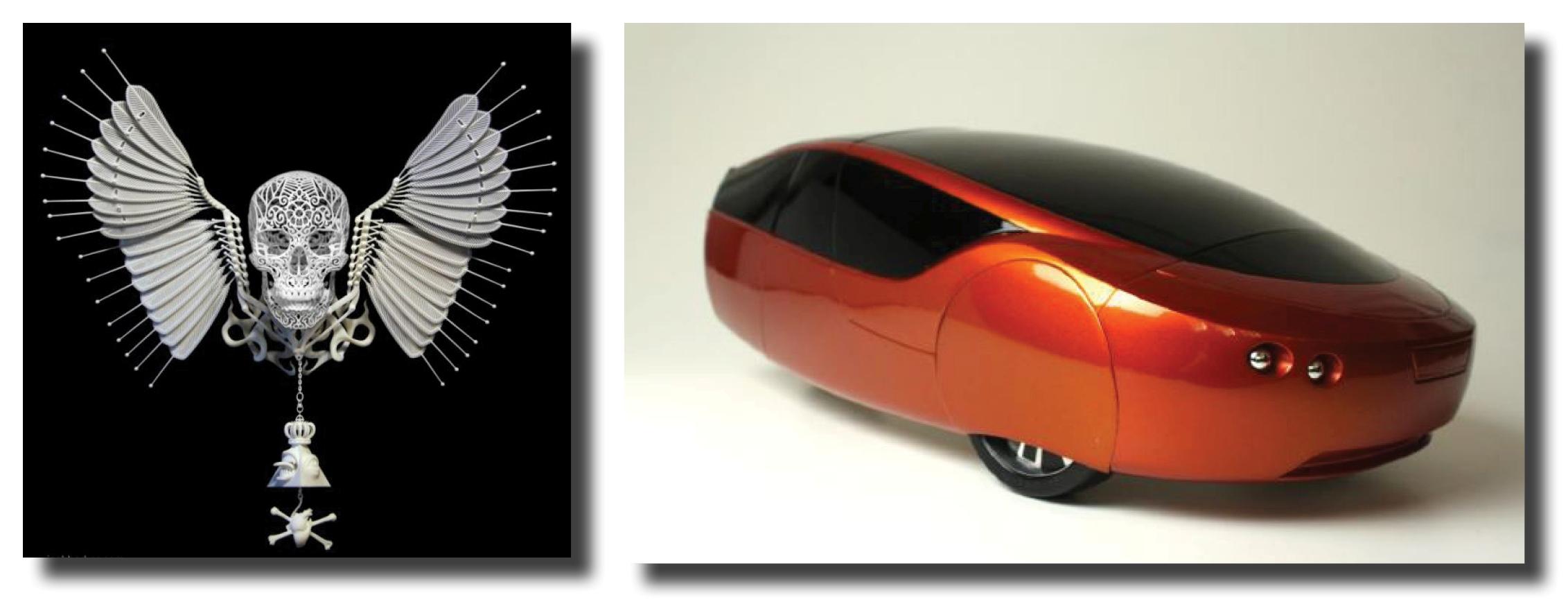 Création Anatomica di Revolutis de Joshua Harker. Première voiture imprimée en 3D, Urbee Car. Photo (c) KOR EcoLogic