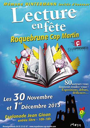 Lecture à l'honneur à Roquebrune