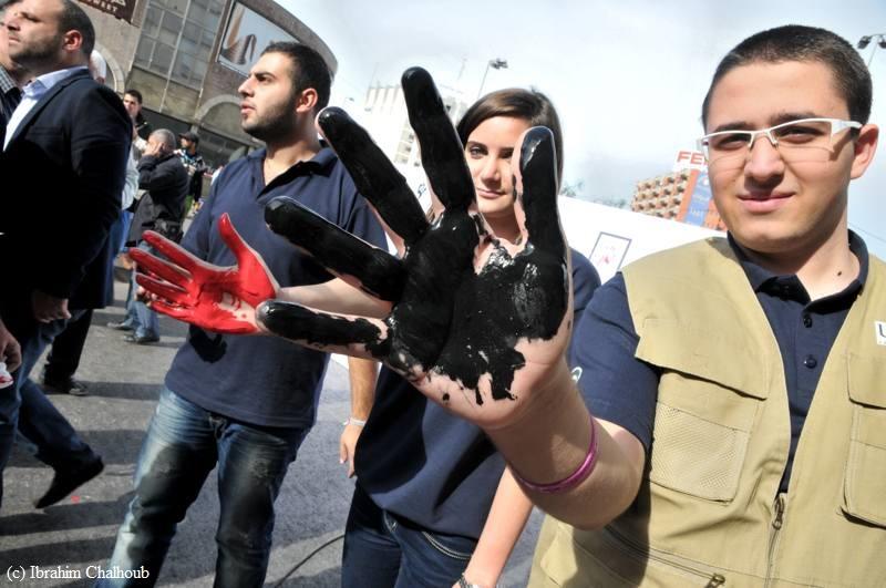 Non à la violence! Photo (C) Ibrahim Chalhoub