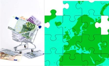 L'Europe craint une déflation. Image de gauche libre de droits - Illustration de droite © Stuart Miles