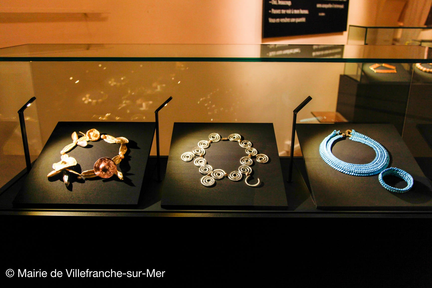 Les bijoux d'Elsa Triolet. Photo courtoisie (c) Mairie de Villefranche-sur-Mer