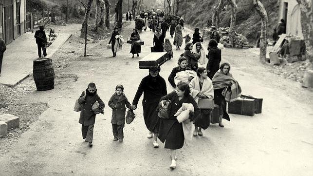 En mars 1939 l'imminente victoire de Franco provoque l'exil vers la France de centaines de milliers de républicains espagnols. (c) DR