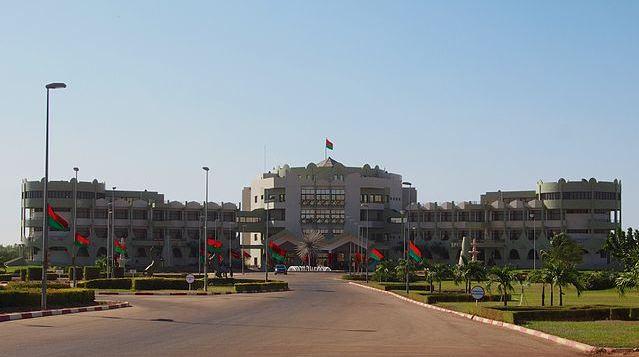 Le Palais Kosyam, le palais de la Présidence du Faso, Ouagadougou, Burkina Faso. Cette photo a été prise sous l'autorisation de la direction de la communication et des relations publiques de la commune de Ouagadougou. (c) Sputniktilt
