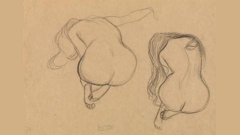 L'art a toujours dépeint la beauté humaine. Dessin de Gustav Klimt. Image du domaine public.