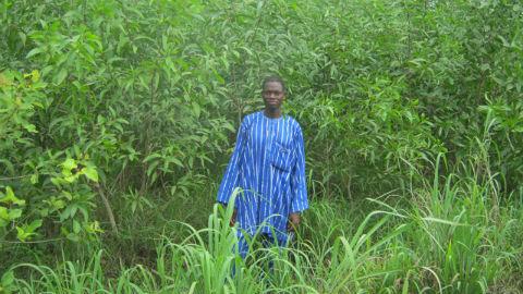 Le chef du village dans la forêt communautaire. Photo: AT