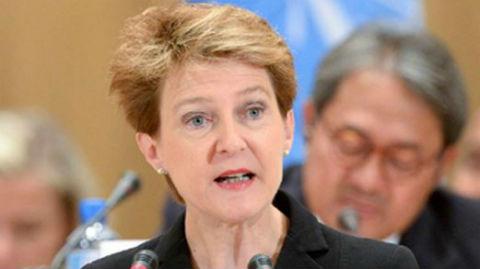 Simonetta Sommaruga, Vice-présidente de la Confédération Suisse. Photo (c) Jean-Marc Ferré / UN