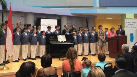 Les Petits chanteurs de Monaco aux États-Unis. Photo (c) DR