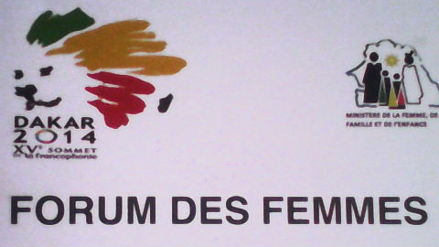 Banderole du Forum des femmes. Photo: Mar Mbengue
