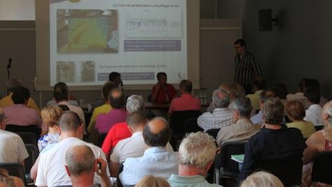 Réunion-débat des élus du Parc en juin 2014. Photo (c) PNRL