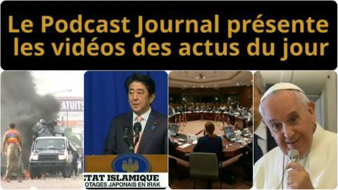 Les actualités en 4 vidéos du 20 janvier 2015