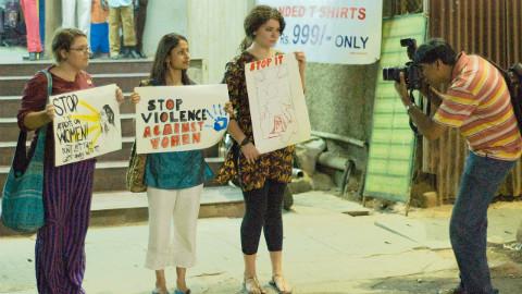 Protestation en Inde contre les viols. Photo (c) Kiran Jonnalagadda