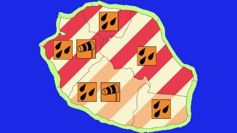 Les alertes du 09/03/15 par le centre météorologique de Saint-Denis