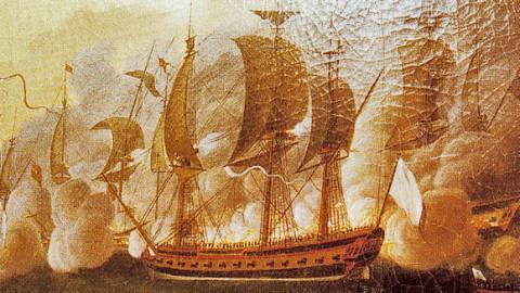 Le navire Hermione original. Image du domaine public