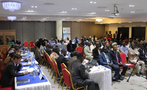 Les participants venus des pays de l'Afrique de l'ouest et des partenaires venus d'Europe. Photo: Alain Tossounon