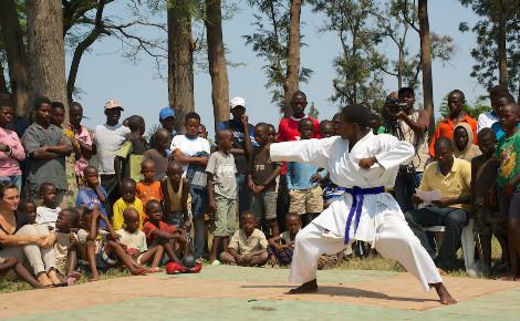 Démonstration de judo lors de la 3e édition des Jeux de l'Amitié. Photo (c) DR