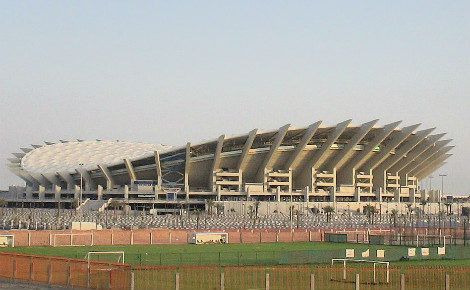 Le stade international Jaber Al-Ahmad. Image du domaine public.