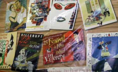 Précédentes affiches du Festival du film italien. Photo (c) Sabrina.
