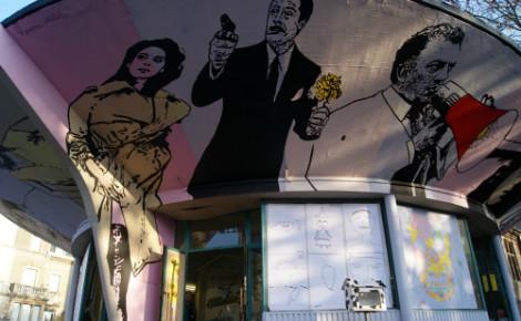 Gare routière de Villerupt redécorée par cinq artistes. Photo (c) Sabrina Belkhiter.