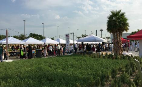 Entrée du Qout Market (saison 3) située au parc Murouj, au Koweït. Photo (c) Bulent Inan