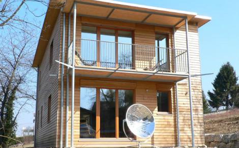 La maison passive de Philippe Perrin, en Savoie. Photo (c) P. Perrin