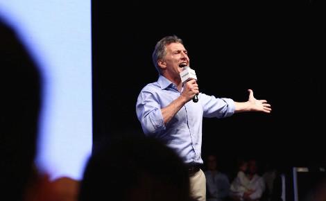 Le futur président d'Argentine célèbre sa victoire. Photo du compte officiel Facebook de Mauricio Macri