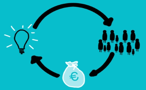Crowdfunding. Illustration (c) Lara Rocio