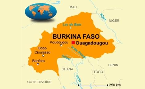 Ouagadougou, la capitale du Burkina Faso a été victime d'un attentat terroriste, vendredi 15 janvier 2016. Image libre de droits