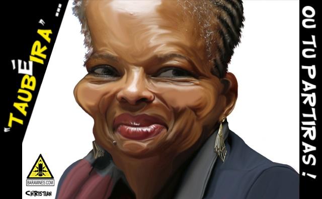 Christiane Taubira a quitté son poste de garde des Sceaux et de ministre de la Justice ce mercredi 27 janvier 2016. Illustration (c) Christian Larivière
