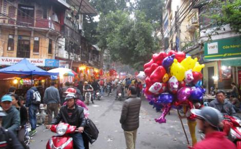 Une rue d'Hanoï un jour avant le Têt, (c) Mathilde Dujardin