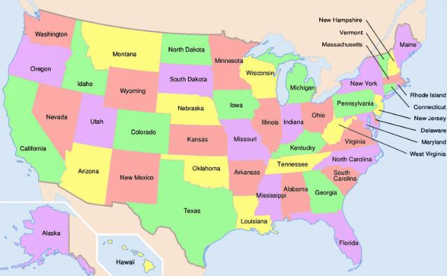 Les États américains. Image (c) Haylli
