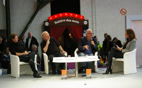 Michel Gheude, Claude Semal et Sabine de Ville lors du débat. Photo © Fanny Silva