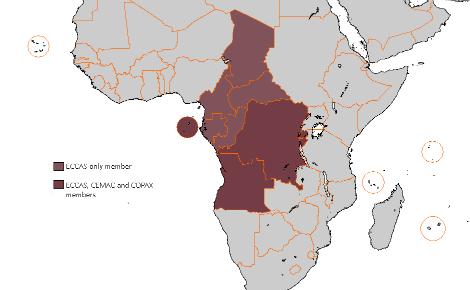 Les pays membres de la CEEAC, image du domaine public. Cliquez ici pour accéder au site officiel