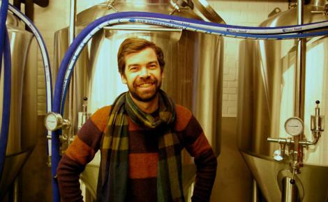 Sébastien Morvan dans sa brasserie urbaine. Photo (c) Fanny Silva