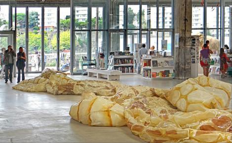 La mue de Serpent d'océan, oeuvre de Huang Yong Ping. Photo (c) Jean-Pierre Dalbéra