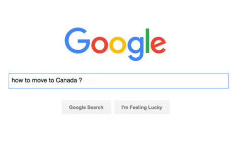 "Recherche Google ""How to move to Canada"", capture d'écran"