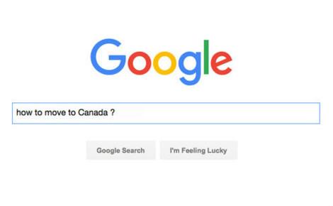 "Recherche Google ""How to move to Canada"", capture d'écran"