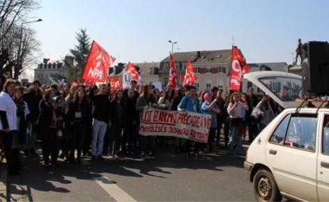La jeunesse manifeste au Mans le 17/03/2016. Photo (c) Alice Dutray