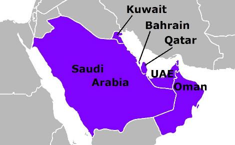 Le CCG réunit les six pétromonarchies du Golfe persique. Image du domaine public.