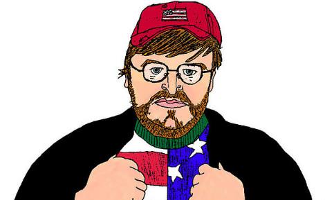 Dessin de Michael Moore (c) Jacqueline Kato