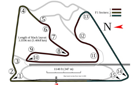 Schéma du circuit de Barein. Illustration (c) Will Pittenger