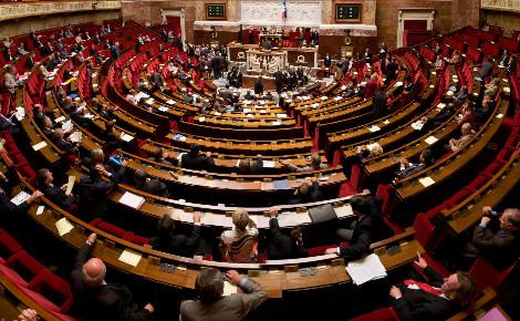 Hémicycle de l'Assemblée nationale. Photo (c) Richard Ying et Tangui Morlier